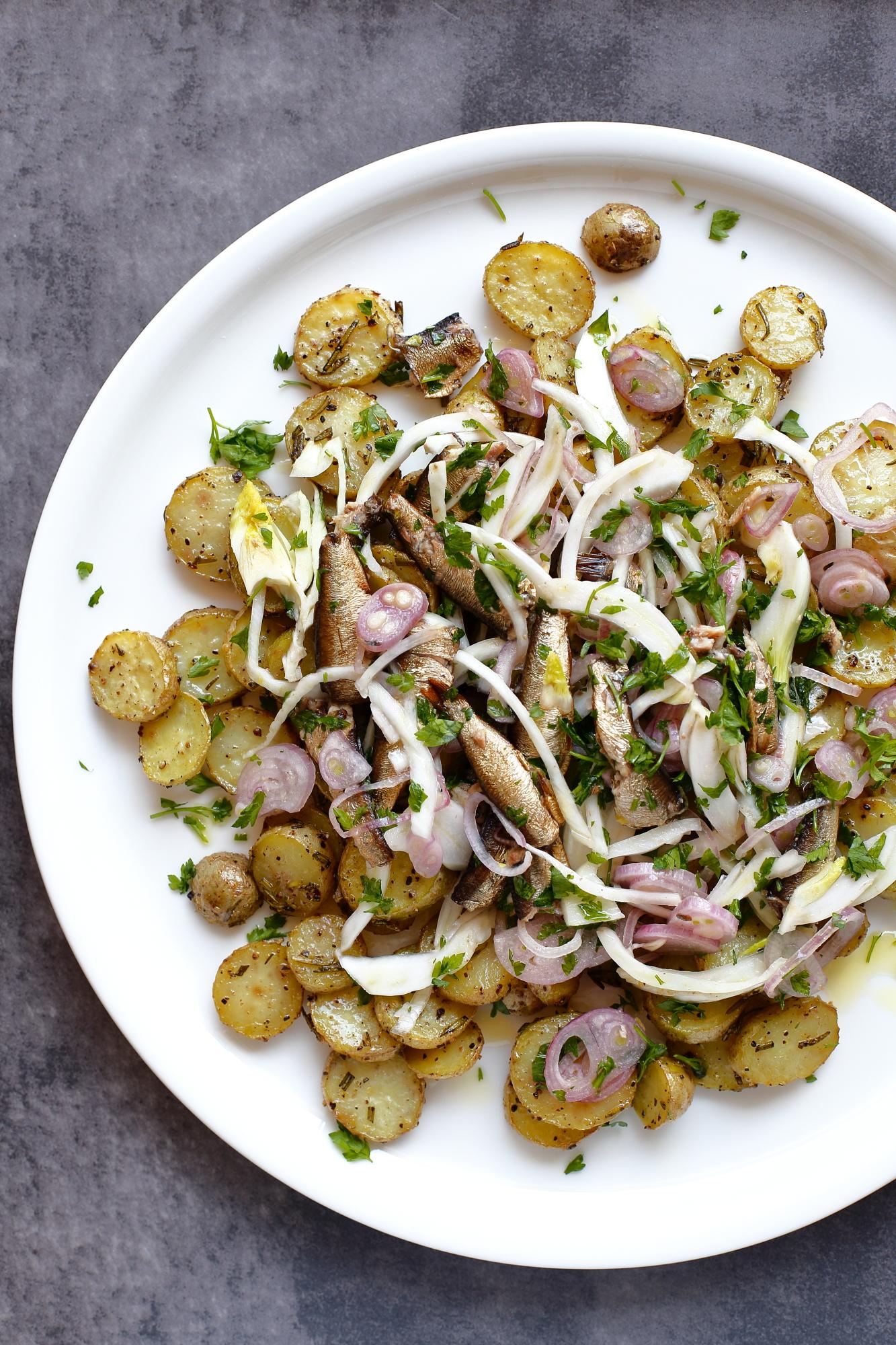 Pieczone ziemniaki z fenkułem