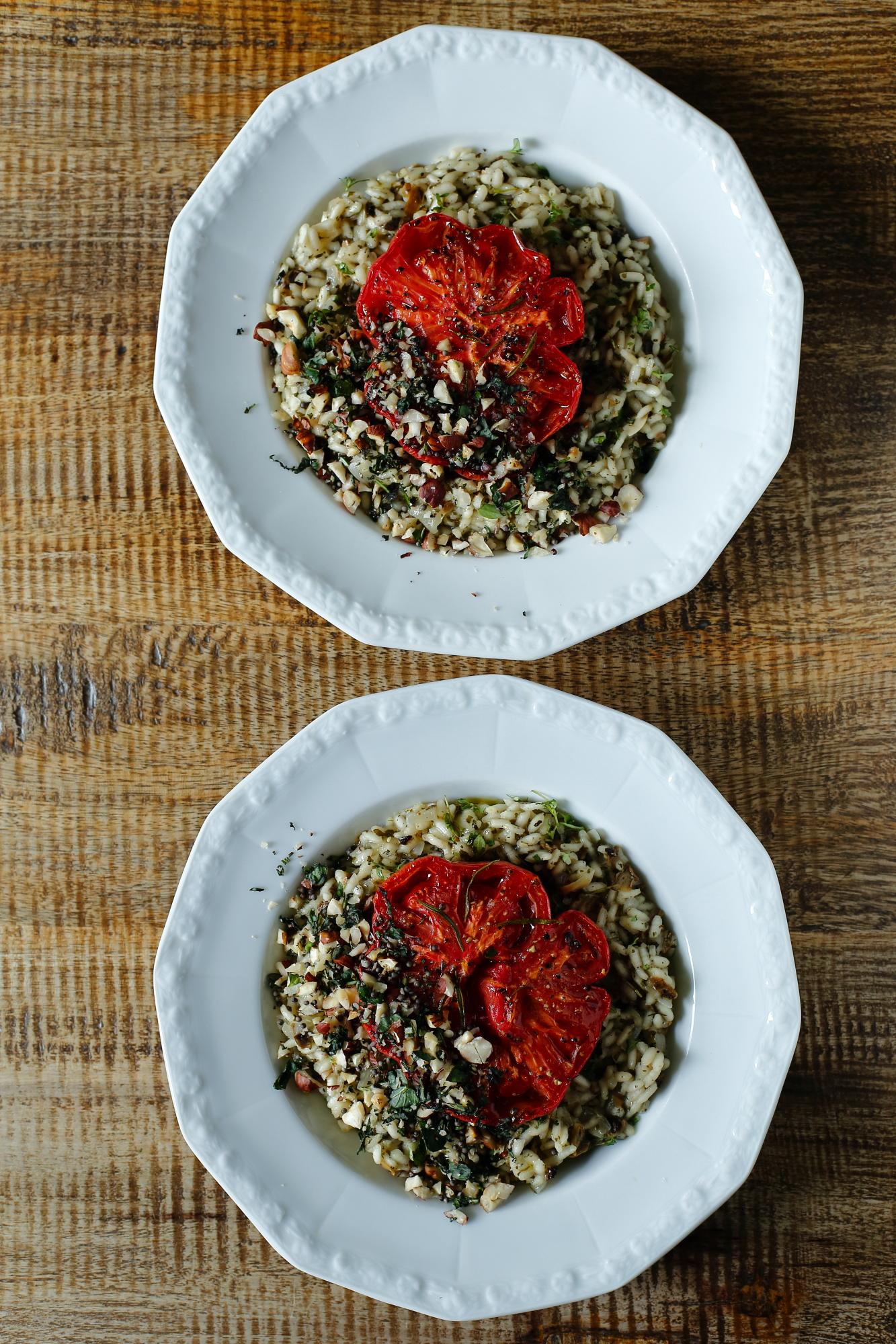 Risotto z pieczonym pomidorem