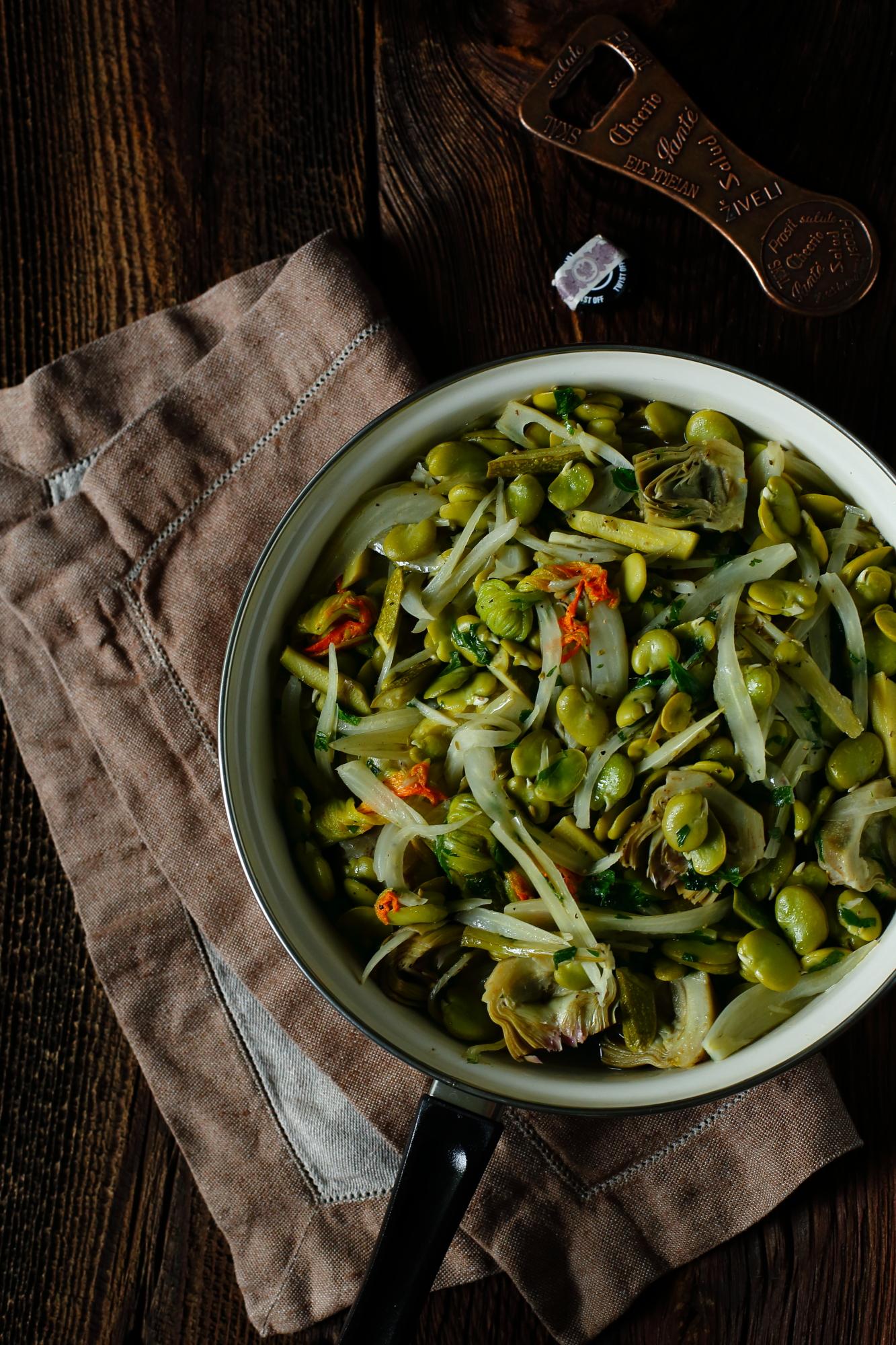 Warzywa duszone w cydrze