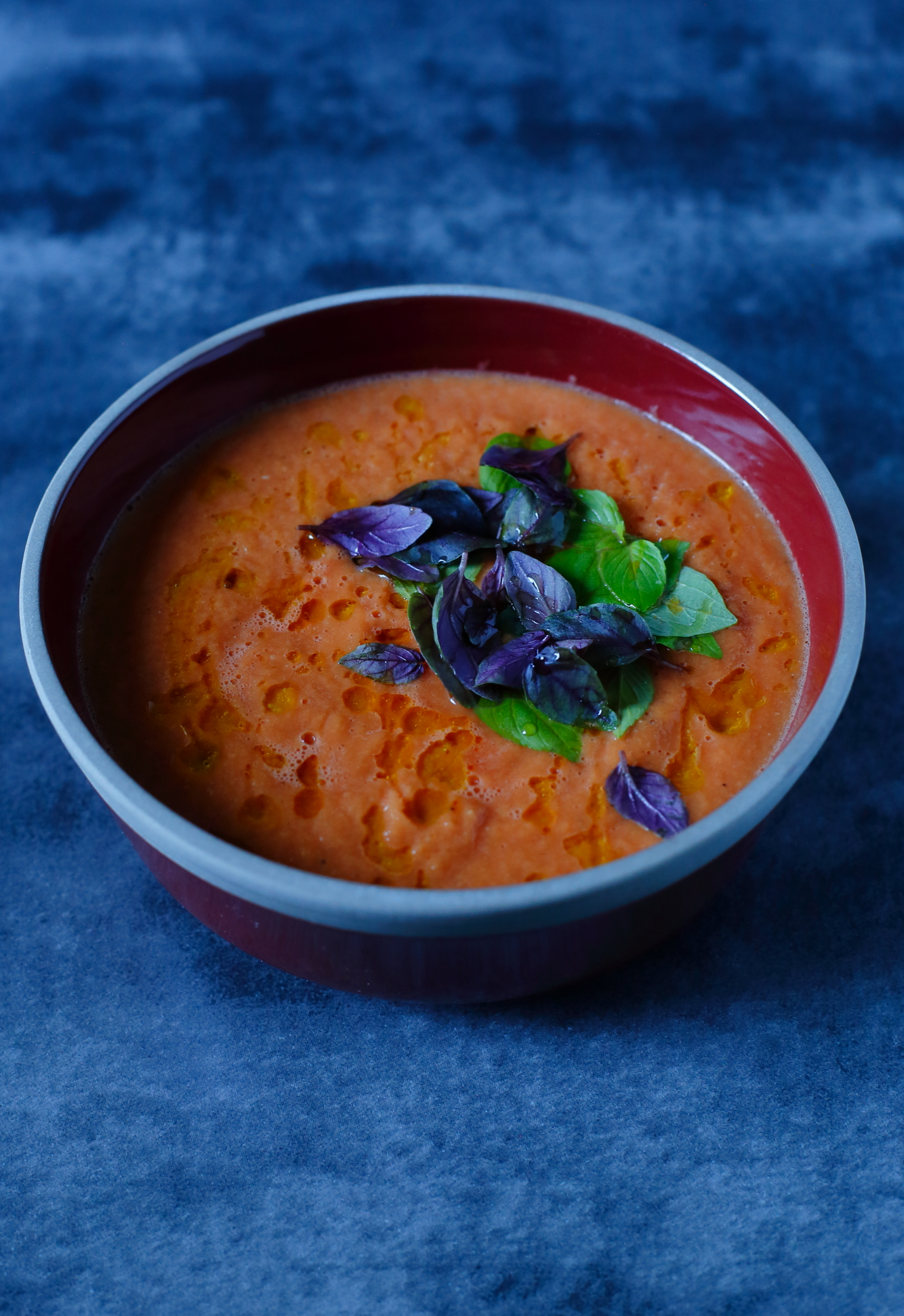 Najprostszy krem z pieczonych pomidorów