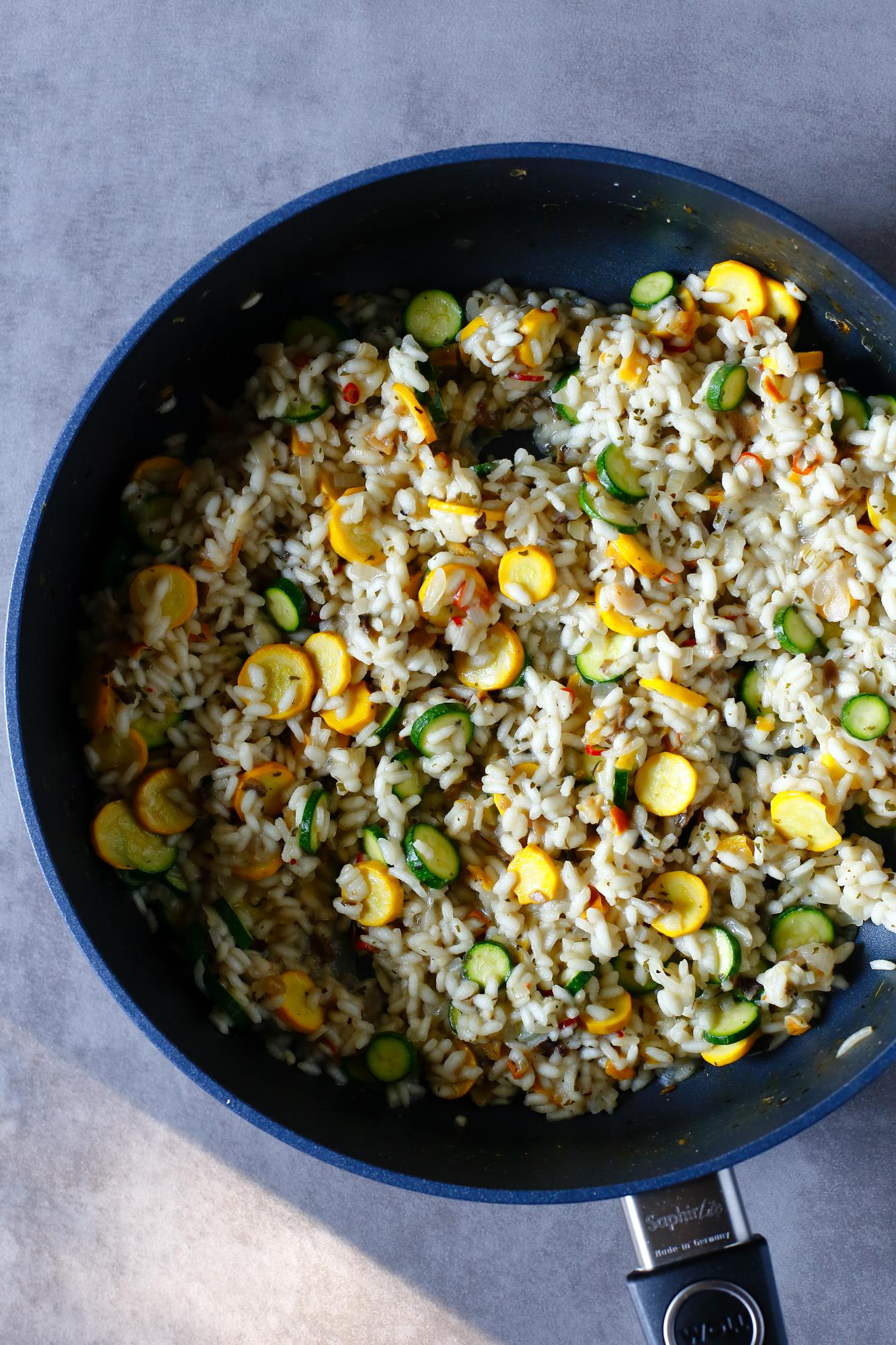 Cukinie nadziewane risotto