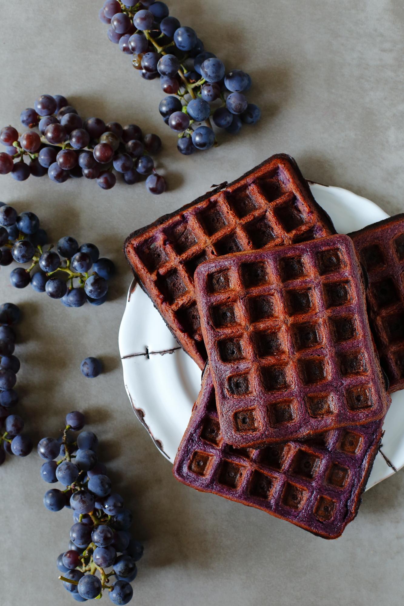 Gofry z winogron