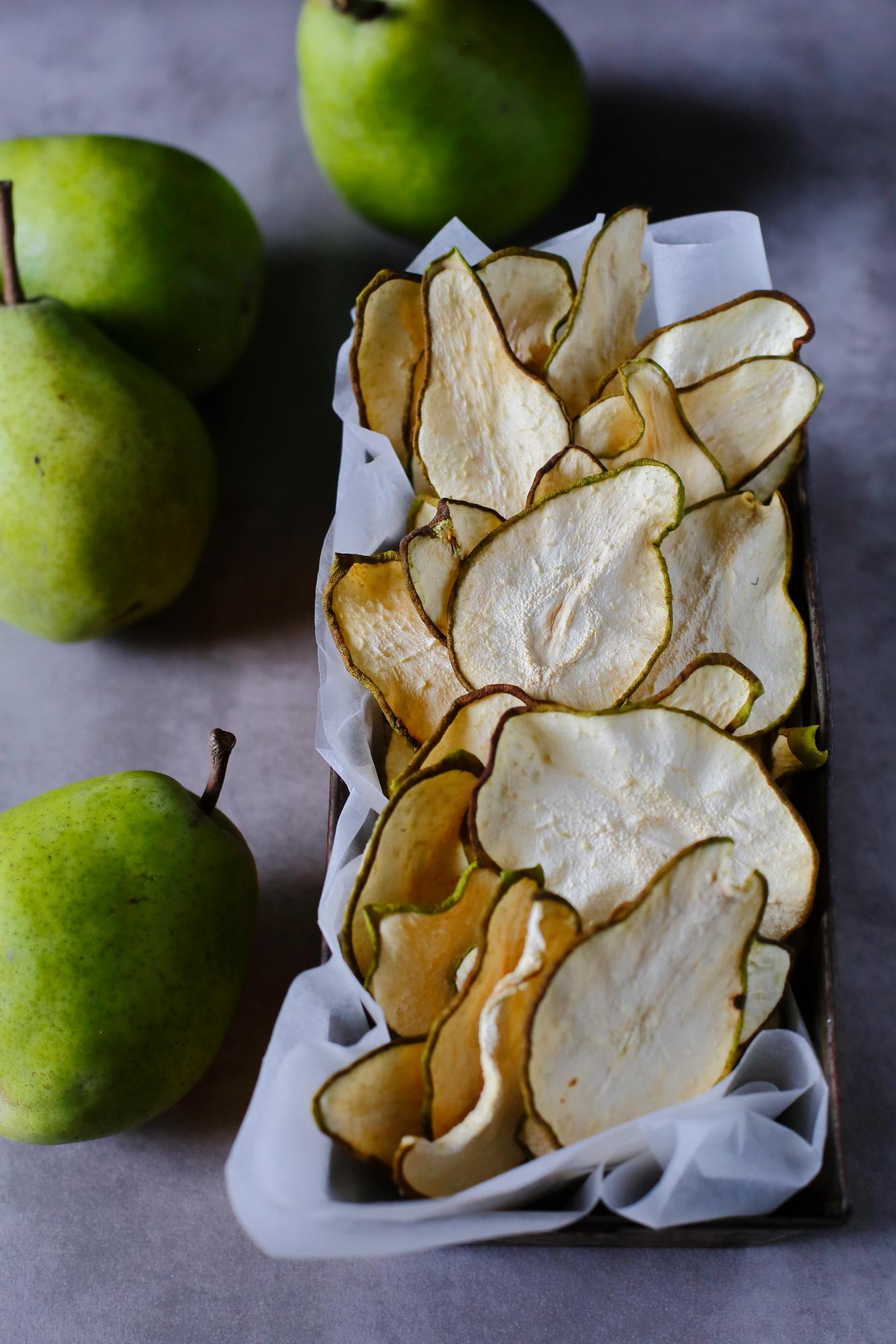 Chipsy z gruszki