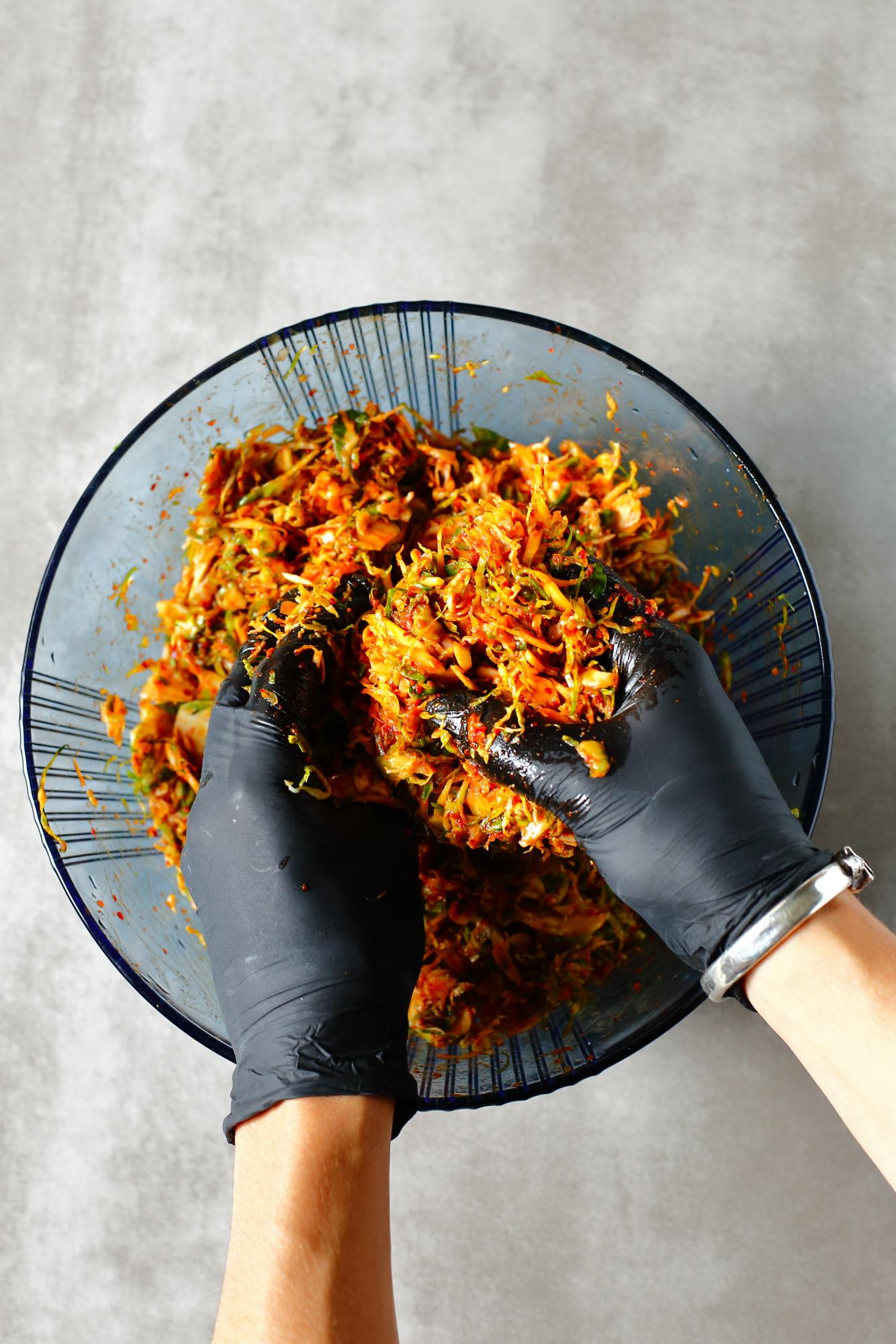 Kimchi z brukselki