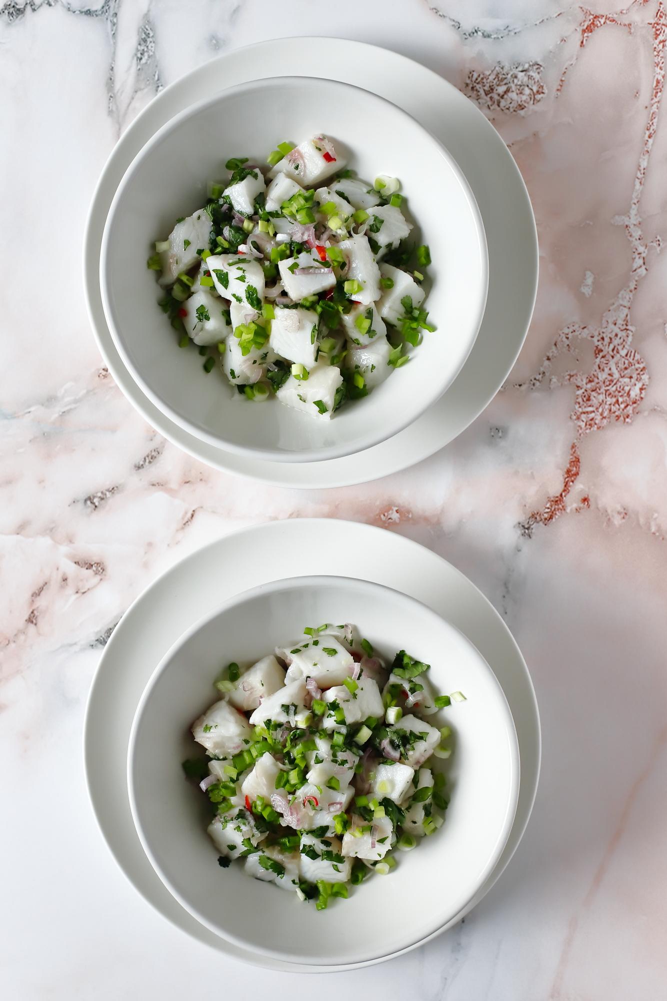 Ceviche z halibuta