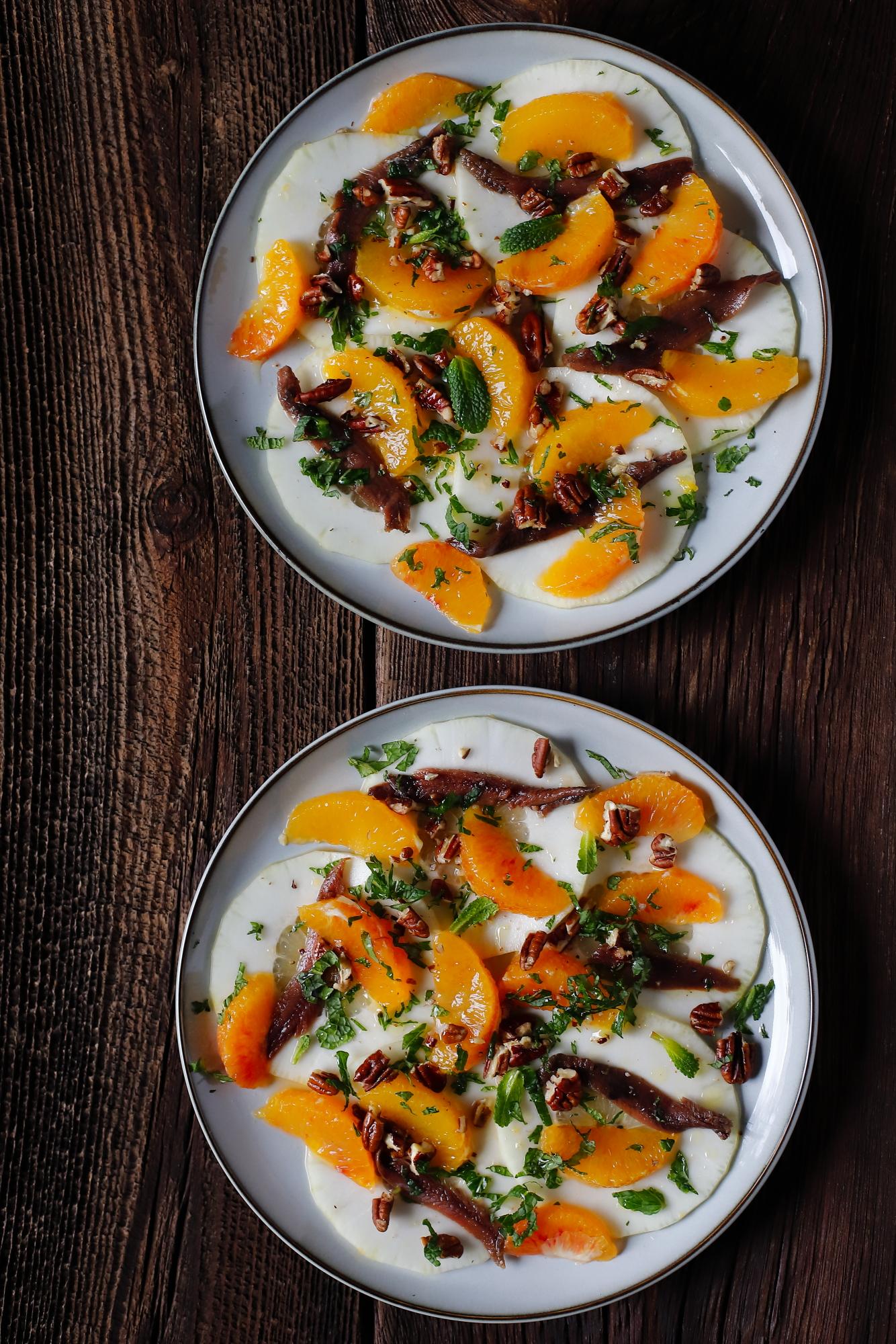 Cytron z pomarańczą i anchois