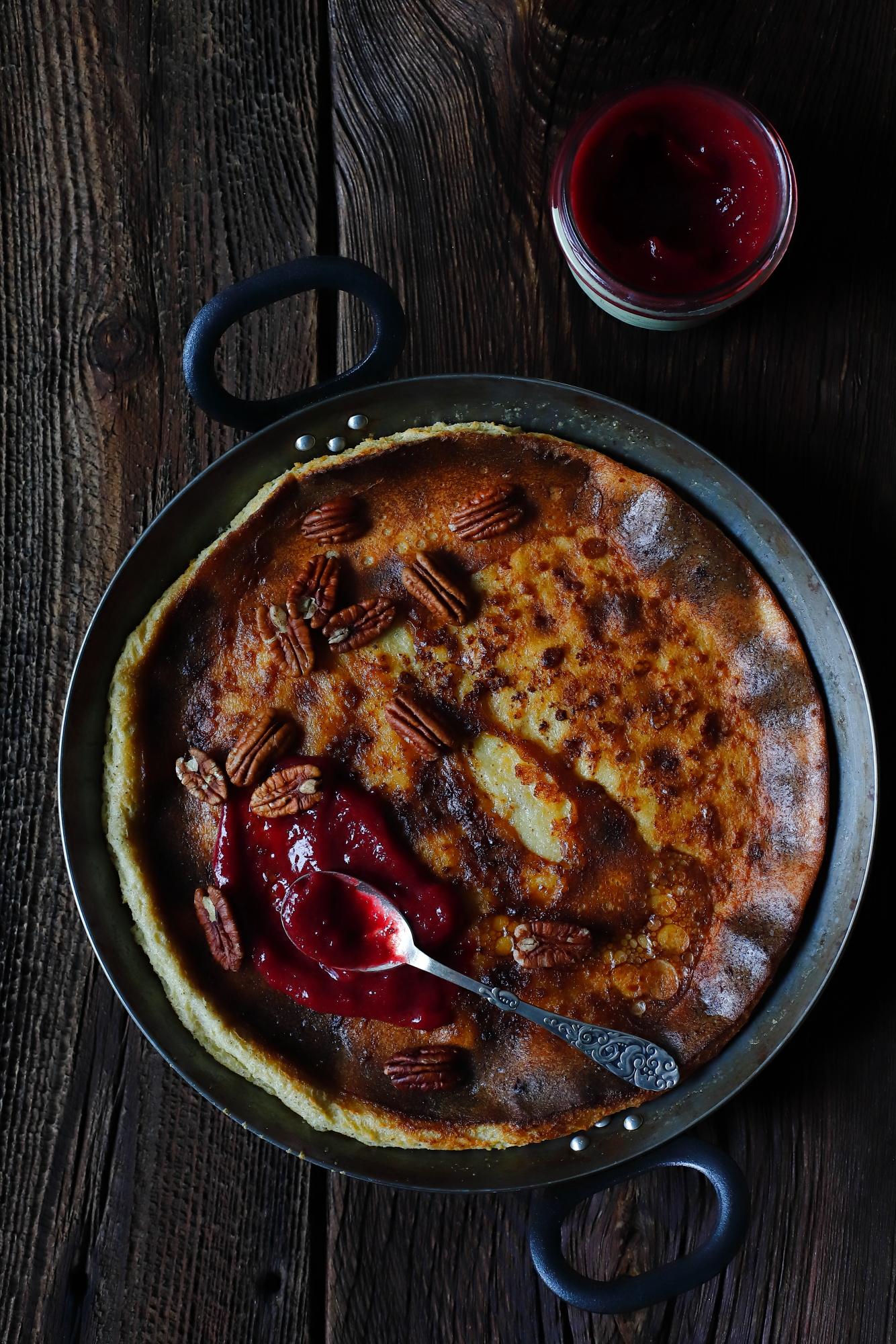 Pannukakku - fiński naleśnik z piekarnika