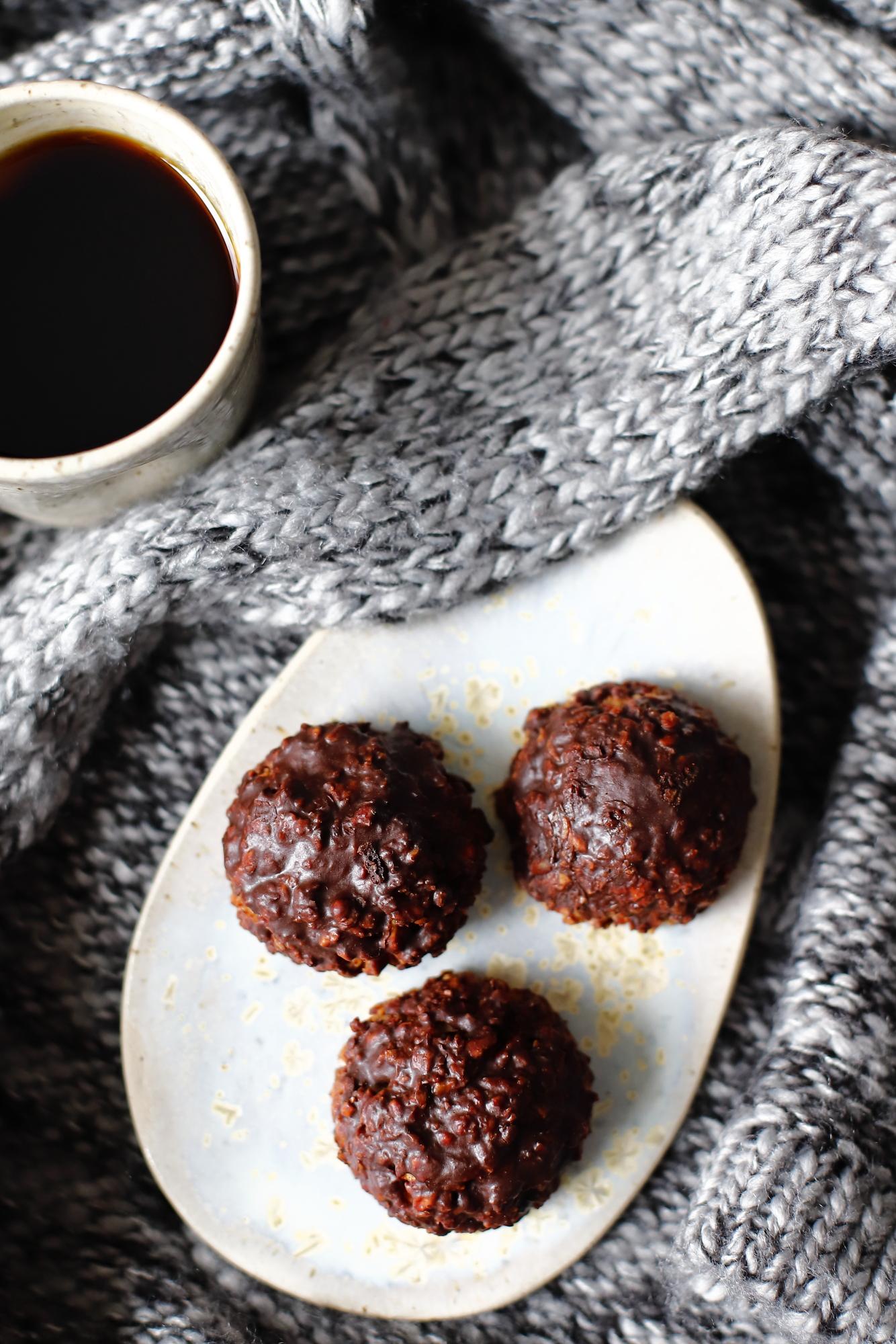 Ciasteczka orzechowe z czekoladą