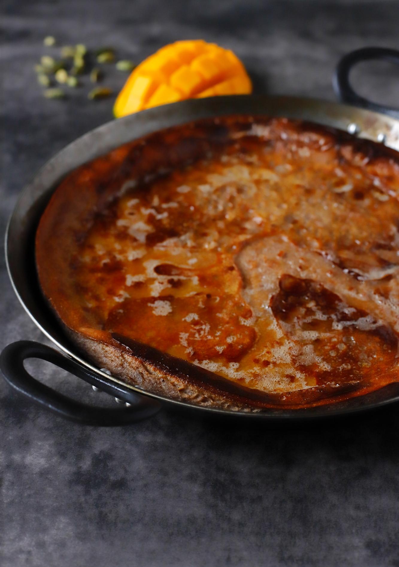 Pannukakku z mąki kasztanowej