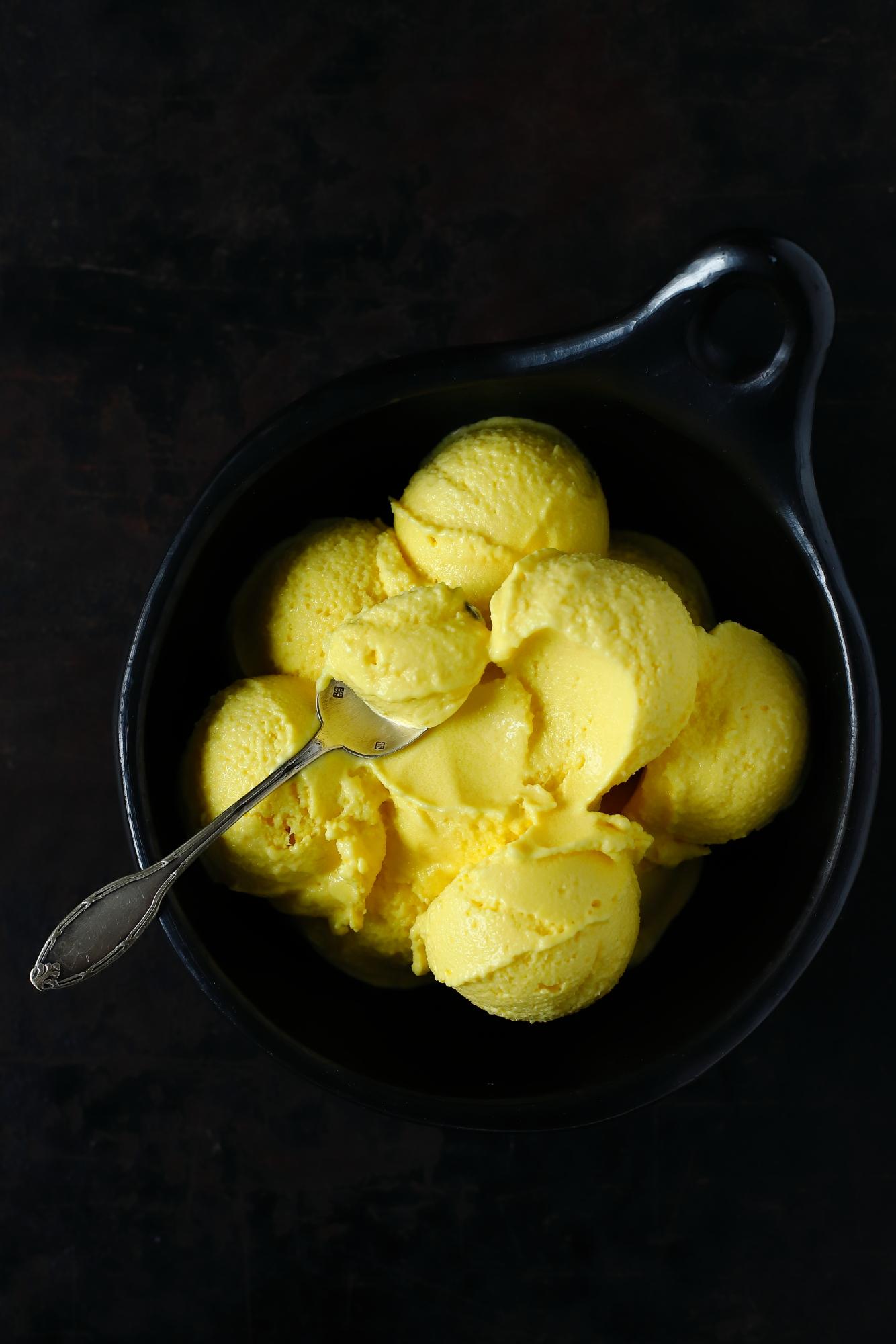 Lody z mango z nutą limonki