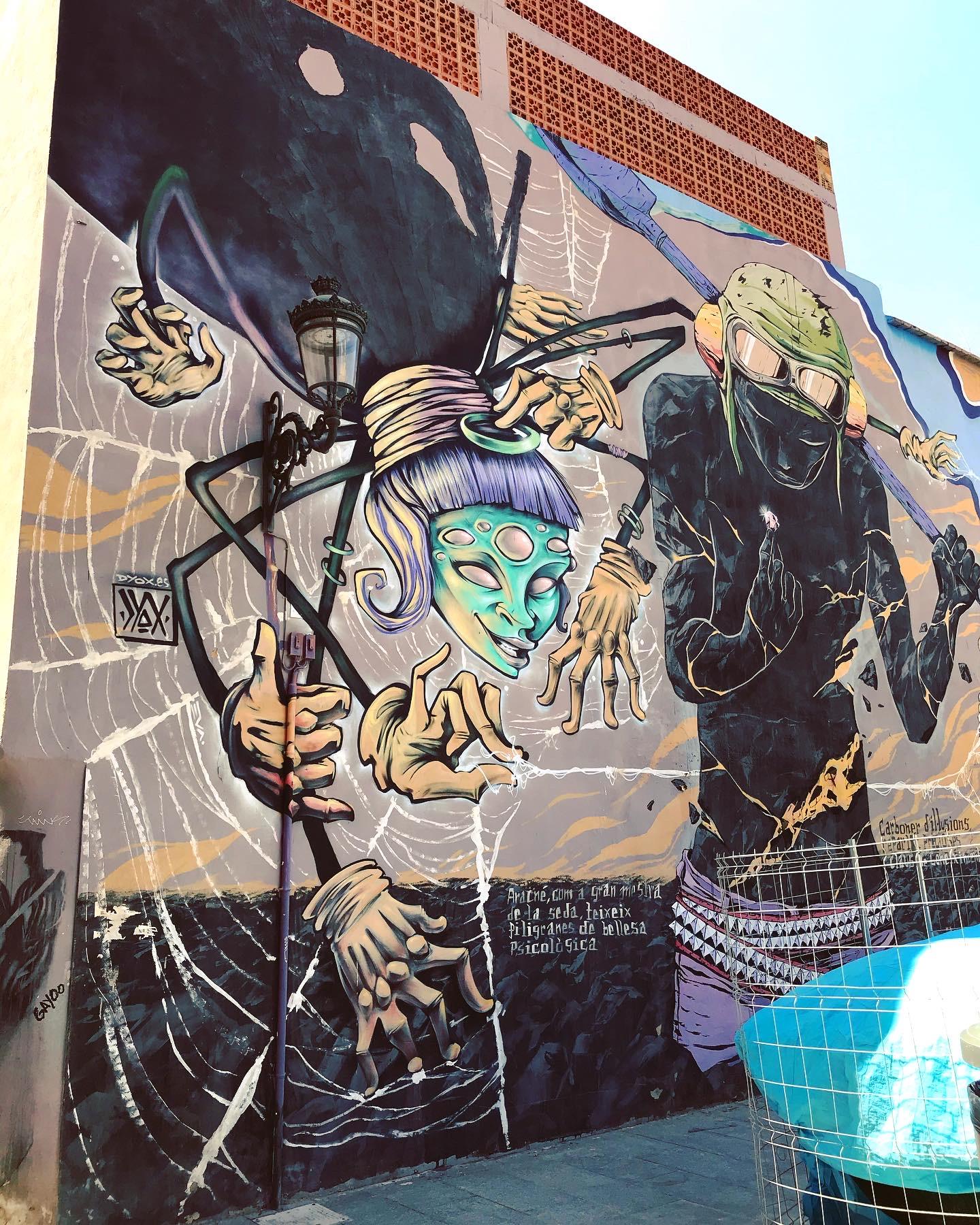 Street art w Walencji