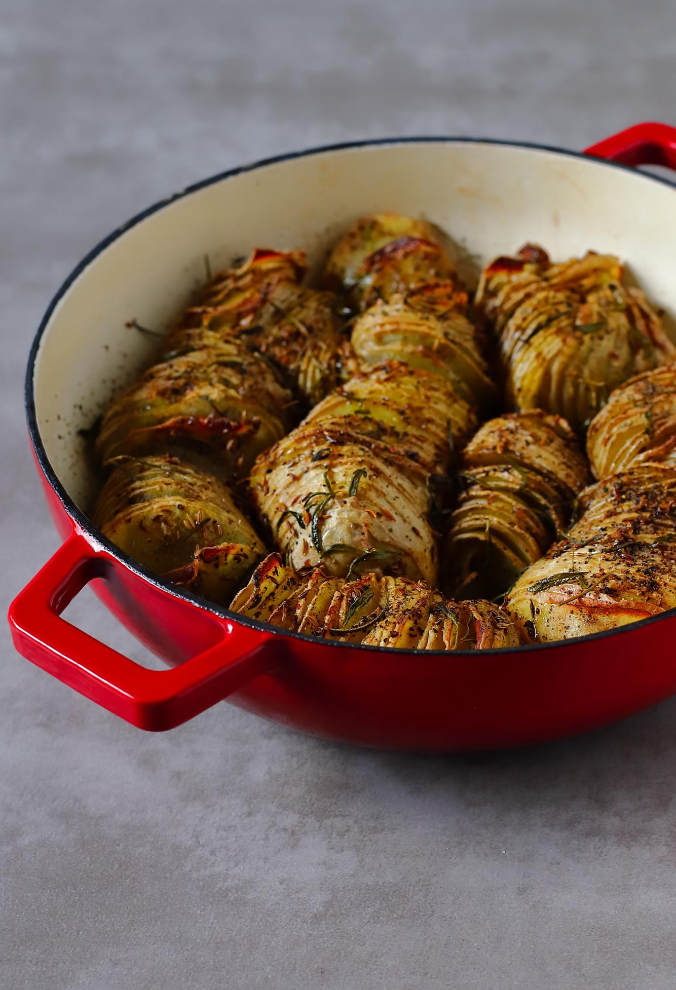 Ziemniaki Hasselback na skróty