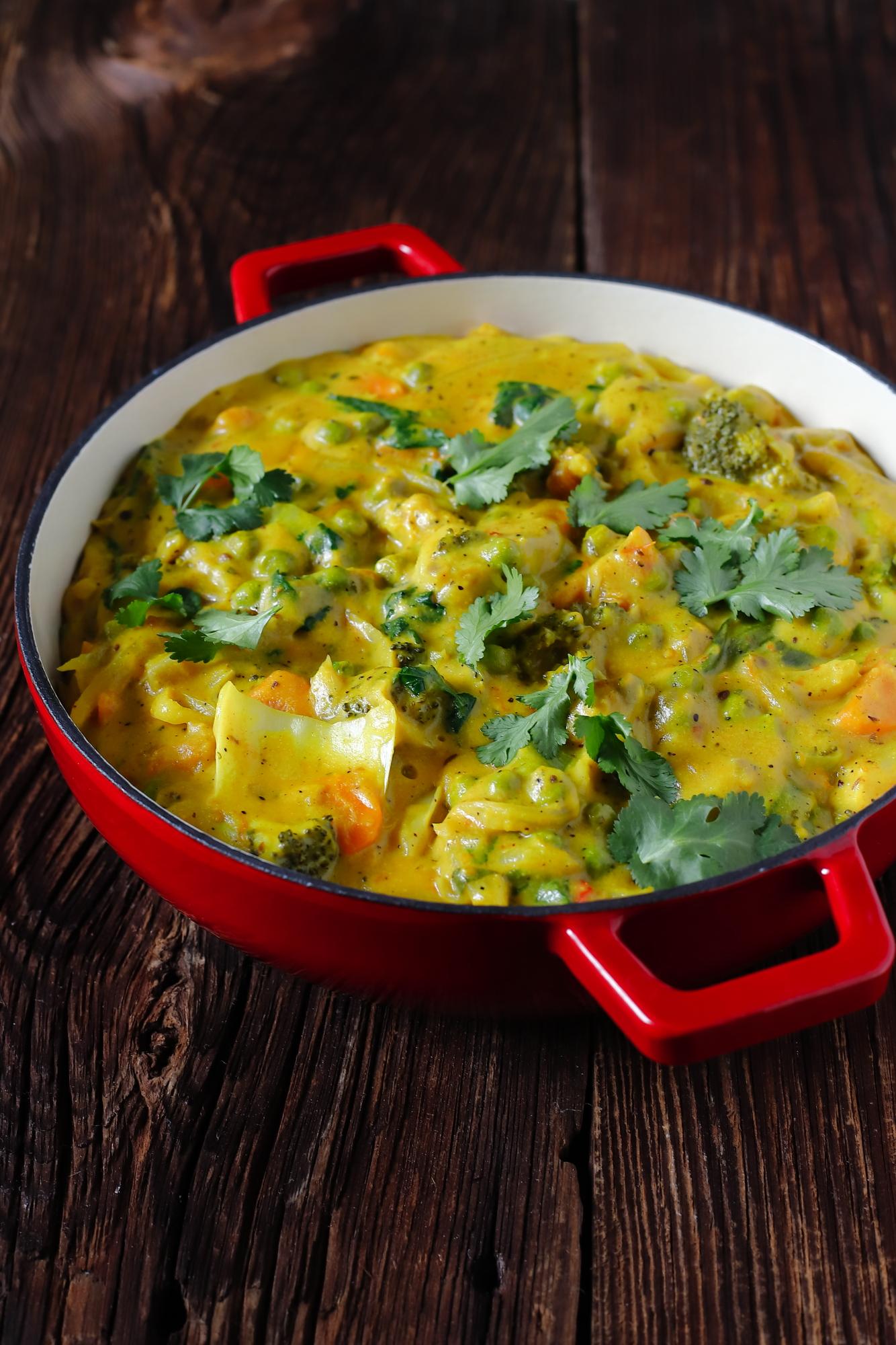 Curry z brokułem