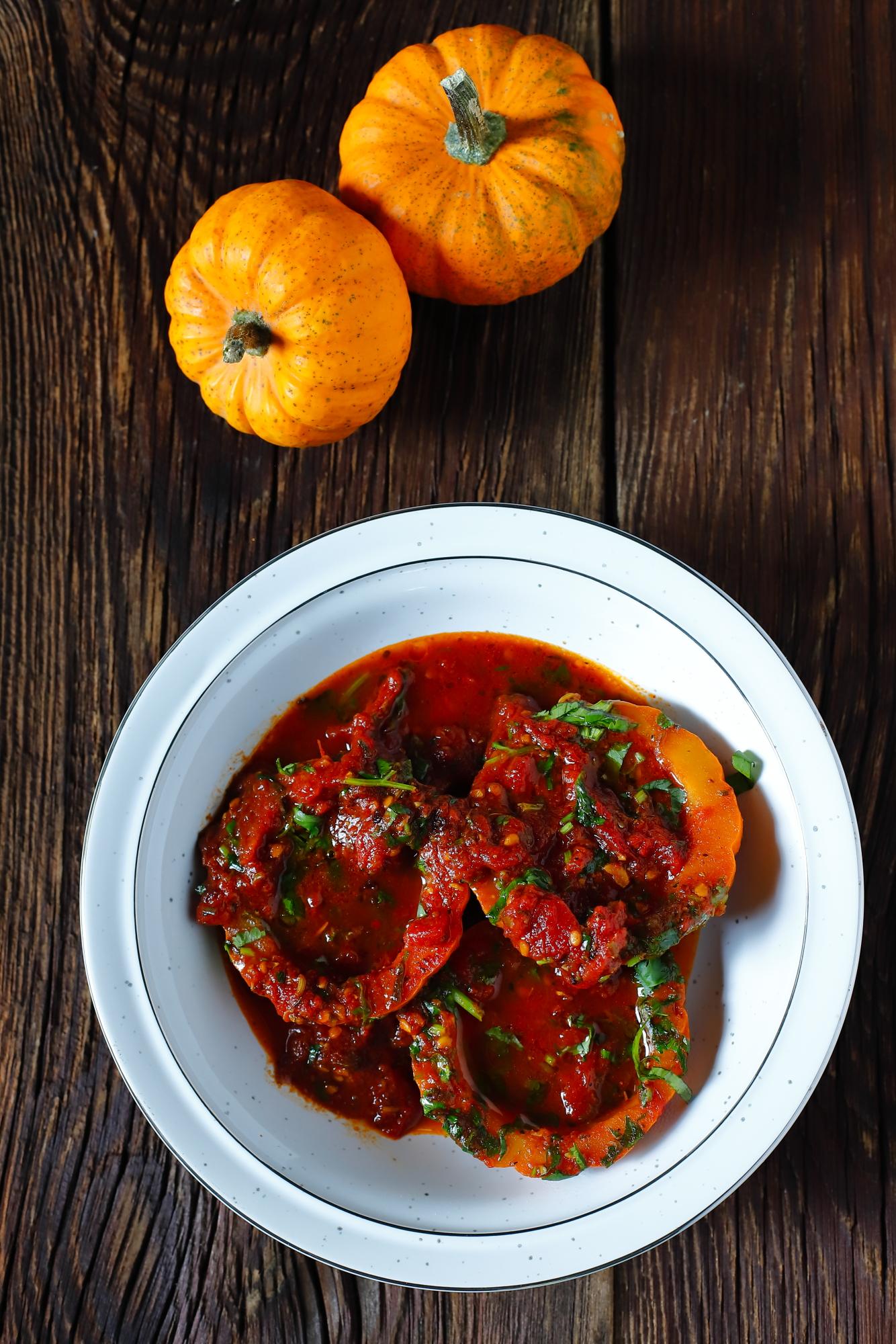 Dynia duszona w pomidorach